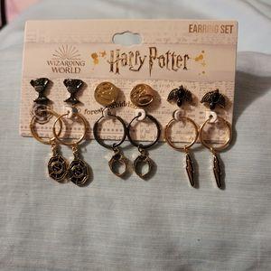 Harry Potter 6 piece earring set NWT